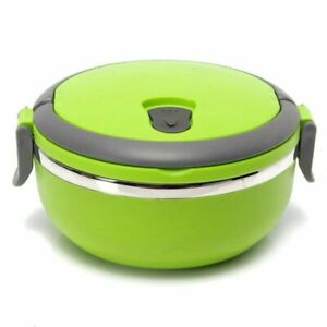 Stainless Steel Thermos Food Container Thermal Lunch Box For Kids Round Heat NEW