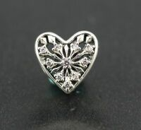 Original Pandora Element Charm 791996CZ Winter-Herz NEU 925 Sterling Silber