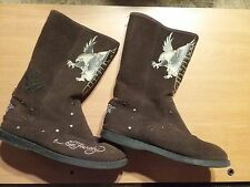 Don Ed Hardy Designs by Christian Audigier womens Shoes Boots Size 7 RARE Style