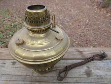 Antique 1895 B&H Oil Lamp *Electrified* Brass Kerosene Lamp