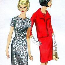 "Vintage 60s DRESS & JACKET Sewing Pattern UNCUT Bust 36"" Size 12 RETRO Evening"