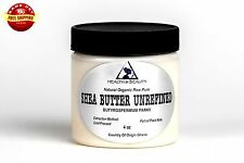 SHEA BUTTER UNREFINED IVORY WHITE ORGANIC RAW COLD PRESSED GRADE A GHANA 4 OZ