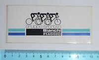 ADESIVO VINTAGE STICKER AUTOCOLLANT PIAGGIO BIANCHI ORIGINAL ANNI'80 12x5cm RARE