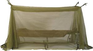 USGI ARMY MILITARY COT MOSQUITO NET GREEN MESH NETTING INSECT BAR FIELD SCREEN