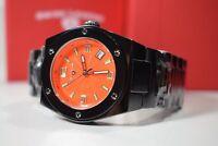 Swiss Legend Women's Ceramic Throttle Orange Textured Dial Watch SL-10054-BKOTSA
