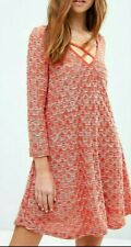 Dress in swing shape festival hippie style knitted cotton blend by Oeuvre