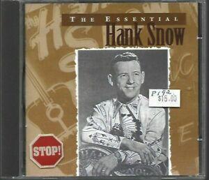 Hank Snow - The Essential **Rare 1997 EU 20 Track CD Album** VGC