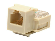 RJ-11 Toolless Telephone Modular Phone Keystone Jack - Ivory