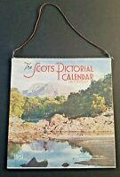 1951 SCOTS PICTORIAL Calendar ~  with 24 color pictorial scenes