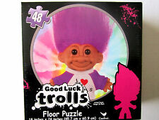 "Good Luck Trolls 48 Pcs Colorful Boxed Fun Floor Puzzle 18"" x 24"" Brand New!"