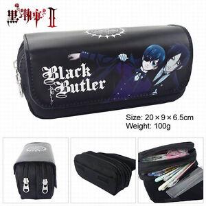 Anime Black Butler Pen Pencil Case Zipper Make Up Bag box cosplay