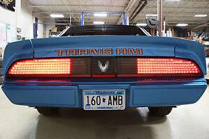 NEW DESIGN 1979 - 1981 Pontiac Trans Am Firebird LED Taillights SEQ PAIR w Rev