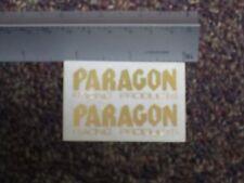 VINTAGE PARAGON RACING DECAL SHEET (GOLD)  RC10 RC12L