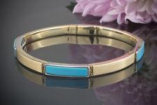 Schmuck Designer Armband 585er Gold Bicolor mit Türkis Gelbgold & Weißgold 14 Kt