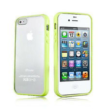 Grass Green  Hard MATTE PC & Soft GEL Cases Cover for Apple iPhone 4 4S 4G 4GS