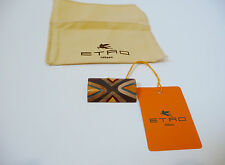 Etro NWT Beige Multi Wood Brooch Pin Retail  $210.
