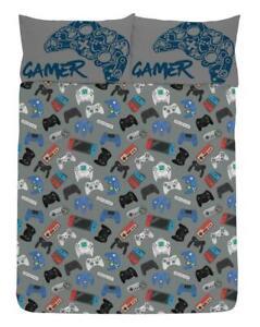 Gamer Double Duvet Cover Gaming Controller Design Reversible Bedding Set