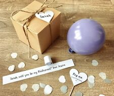 Personalised Balloon Proposal Box - Will you be my Bridesmaid, Godmother, etc