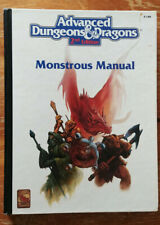 Advanced Dungeons & Dragons 2 2e 2nd - Monstrous Manual (1993) (Ex)