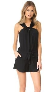 Rag & Bone Roscoe Romper in Black M