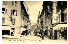 CPA 39 Jura Saint-Claude La Rue du Pré animé