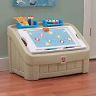 Kids Toy Storage Organizer Bin Playroom Container Chest Children w/ Safe Art Lid