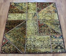 Traditional Vintage Persian Wool 137 x 100 cm Handmade Rugs Oriental Rug Carpet