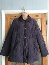 Marks&spencer Women's Ladies Coat Jacket Purple Size Uk 16