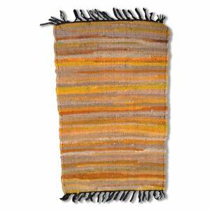 Cotton Chindi Yellow Tonal Mat 50 x 80 cm