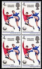 1966 Football World Cup Winners Stamp Block of 4 Unmounted Mint in Stockcard