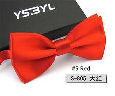 New Red Men's Business Bow Tie Formal Work Necktie Bowties Party Wedding Ties