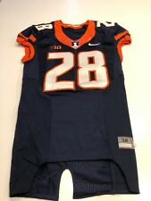 Game Worn Used Illinois Fighting Illini Football Jersey Nike Size 38 #28