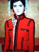 CHANEL 09A NEW PARIS-MOSCOW RED TWEED IMPERIAL BUTTONS JACKET COAT FR44-46 $8K