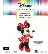 Disney Minnie Mouse Lighted Tinsel Yard Sculpture New Gemmy Christmas