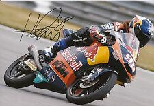 Karel hanika mano firmado Red Bull KTM Ajo 12x8 Foto 2014 Moto3 8.
