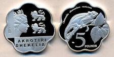 AKROTIRI & DHEKELIA 5 Pounds 2019 Proof Copper nickel, Camaleon, unusual coinage