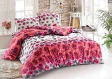 Bettwäsche 200 x 220 cm Güldefne rosa  3-teilig mit Reißverschluss