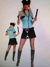 Womens Sexy USA AMERICAN POLICE COPPER  Fancy Dress Costume Outfit