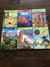 Leap Frog Tag/Leap Reader Books, Lot Of 6: Dinos, Scooby, Nemo, Golden Paddle