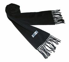 100% 2Ply Pure Cashmere Premium Handmade Classic Womens Neck Scarf Solid Black