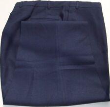 "Dress Slacks - Dark Navy - Polyester Stretch Fabric- Full Cut- Higgins- USA- 76"""