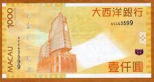 Macao / Macau 1000 Patacas, 2010, P-84-New, BNU, UNC