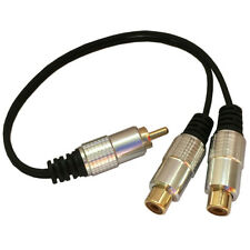 1 RCA Male to 2 Phono Female Splitter Y Adapter Cable/Lead-T Subwoofer Audio G9
