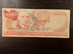 Costa Rica 1000 Colones 1987, P-256