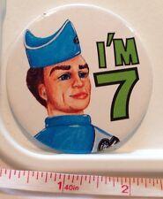 Thunderbirds Badge Birthday Collectable Thunderbird Age 7 Years Old Pin