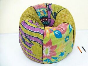 Handmade Quilted Embroidered Cotton Floral Bohemian Bean Bag Kids Furniture BB05