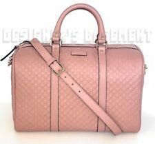 GUCCI pink MICRO GUCCISSIMA Leather MEDIUM BOSTON convertible Strap bag NWT Auth