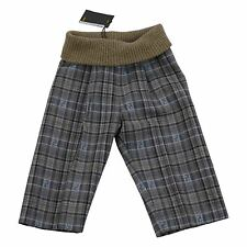 Fendi Baby Boy Multi-Beige/Grey Check Trousers Made in Italy Sz 9 Months