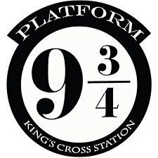 HARRY Potter platform 9 3/4 KINGS CROSS CUT Vinile Muro ARTE Adesivo / Decalcomania