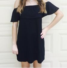 Full Tilt Off the Shoulder Black Dress Tilly's Size Medium